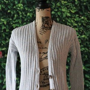 American Eagle Knitted Button Up Sweater